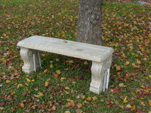 Another stone bench